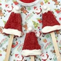 Easy Christmas Dessert: Santa Hat Treats
