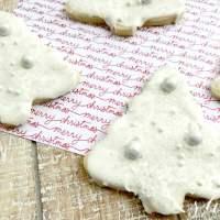 The MOST Elegant Christmas Tree Cookies