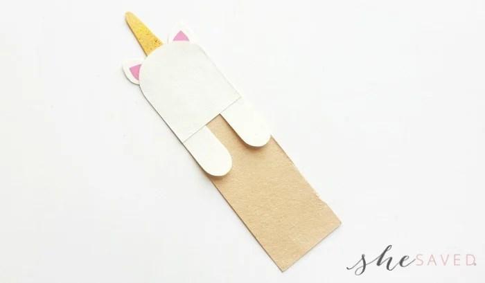 DIY Paper Craft Unicorn Bookmark