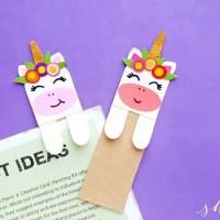DIY Unicorn Bookmark (with FREE printable template)