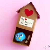 The CUTEST!! DIY Paper Craft Birdhouse Valentine Tutorial