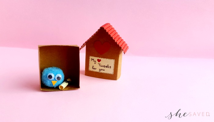 DIY Paper Craft Birdhouse Valentine