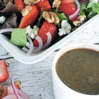 Strawberry Salad with Honey Balsamic Vinaigrette Recipe