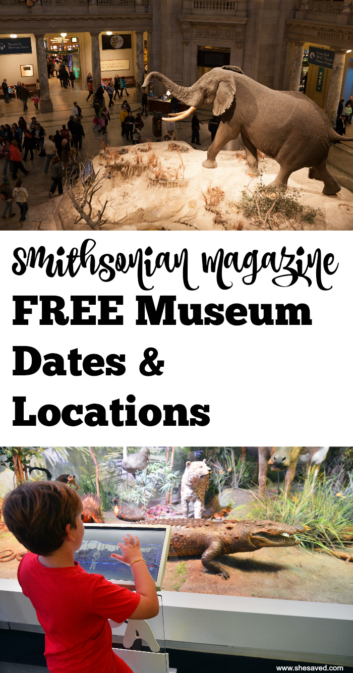 Free Museum Dates and Locations
