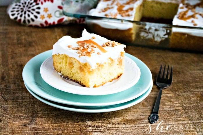 Caramel Poke Cake