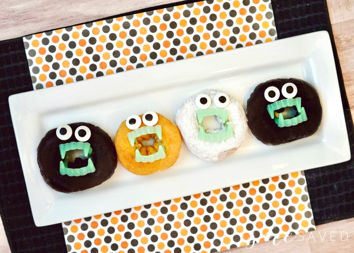 Halloween donuts with faces