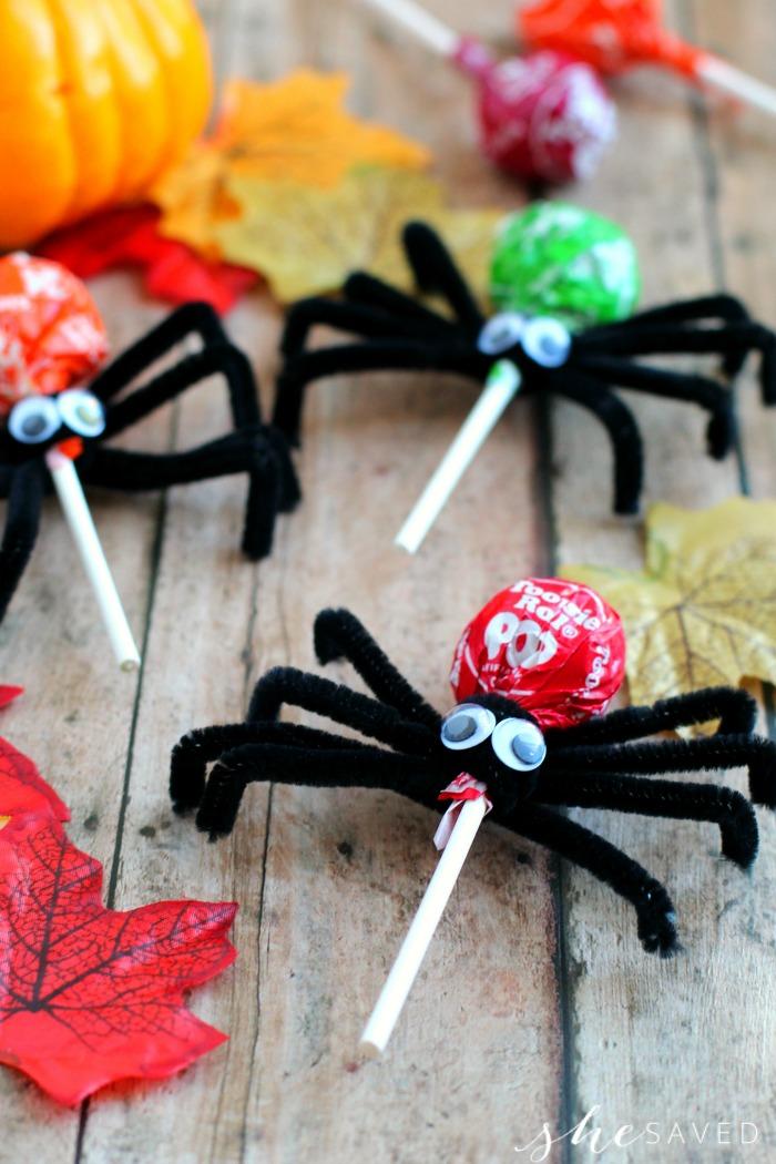 Tootsie Pop Spider Craft