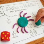 Make A Spider Playdough FREE Printable
