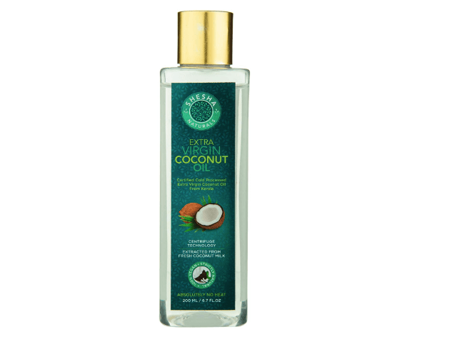 Buy Extra Virgin Organic Coconut Oil online in India at sheshabeauty.com. Buy India's best cold processed Extra Virgin Coconut Oil at best price. 100% Genuine Product. 100% pure and natural, Shop Online SHESHA NATURALS EXTRA VIRGIN Coconut Oil with Highest Quality, Extracted from Fresh Coconut Milk, 100% Organic, Cold Processed & Unrefined. centrifuge extracted unrefined virgin coconut oil. Centrifugation process generates the least amount of free fatty acids, buy coconut oil online, coconut oil, online coconut oil, buy online VCO, best virgin coconut oil brand in india, best extra virgin coconut oil brand in india, Best VCO in India