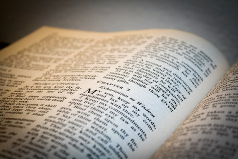 Photo of Bible at Shesler Hall