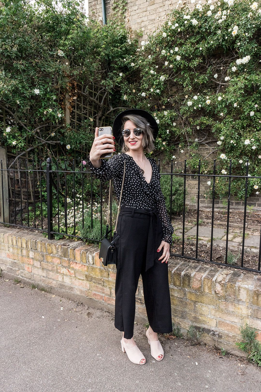 Polka dot blouse and culottes | Selfie game | She talks Glam | 10 things I have done in my 6 months as blogger