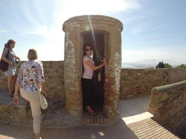 At the top of the Moorish castle in Malaga, you can go into the old lookout towers and see what soldiers saw hundreds of years ago