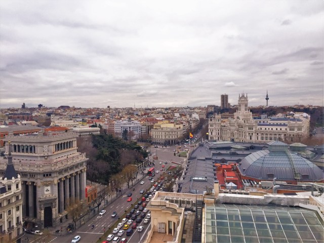 < Madrid from above >