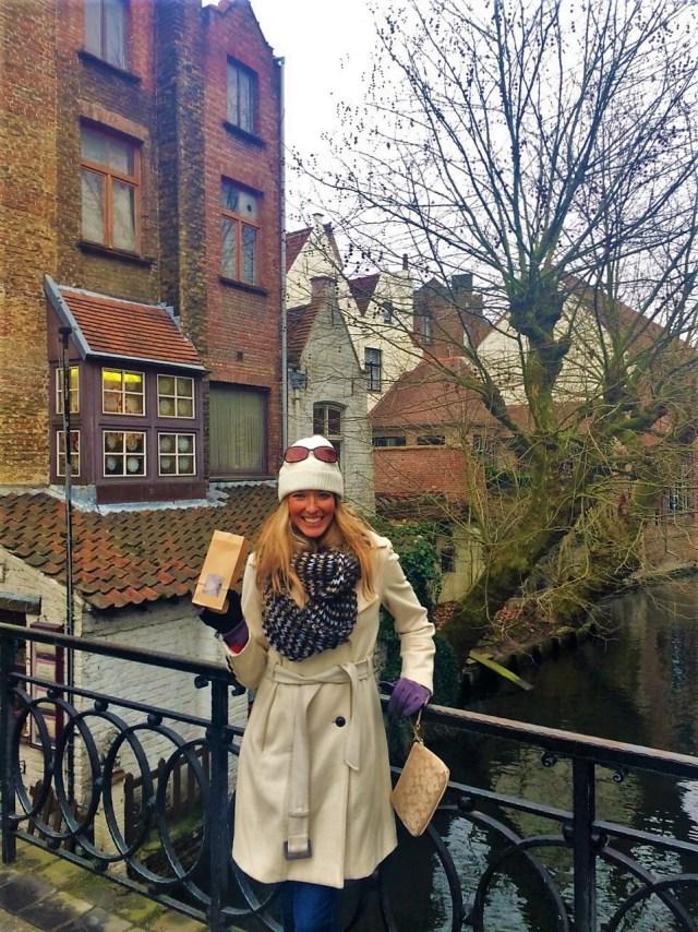 < Belgian chocolates in Bruges >
