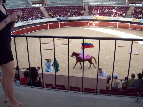 < Bull Fight in Cancun >