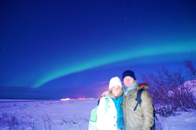 < One of the best places to travel in winter to see the Northern Lights is Iceland! >