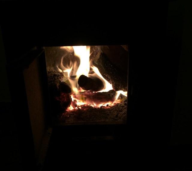 < Things in Spain that aren't common in the U.S.: wood burner >