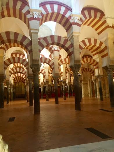< Things in Spain that aren't common in the U.S.: Cordoba's Mosque and Cathedral in one building >