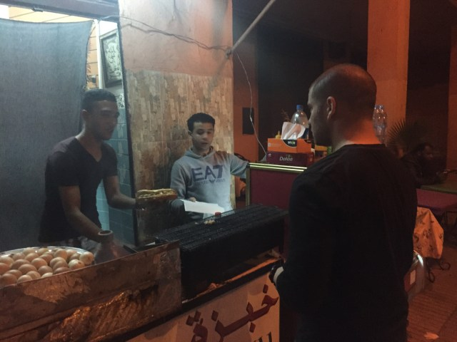 Stepping outside our comfort zone and getting street food in Marrakech