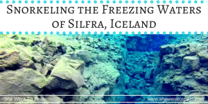 Where can you swim between two tectonic plates? Snorkeling the freezing glacial waters of Silfra is an awesome adventure when visiting Iceland.