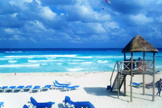 Cancun, Mexico is known for it's many shades of blue