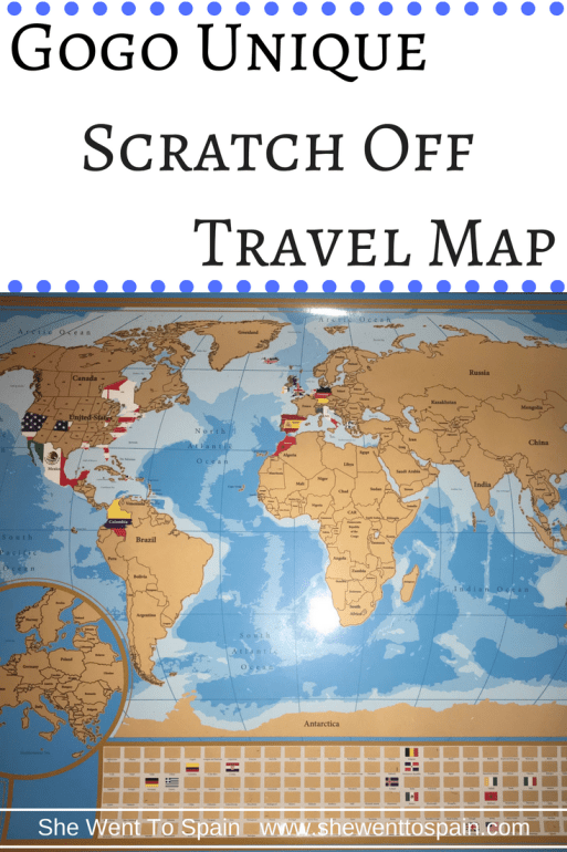 Product Review Gogo Unique Scratch Off Travel Map She Went To Spain - Where have you been travel map