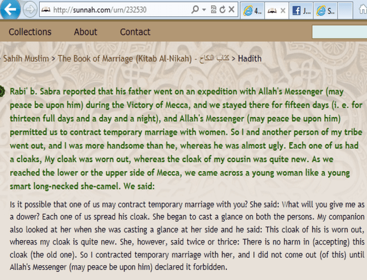 Some more narrations about Muttaa in Sahih Muslim - 3