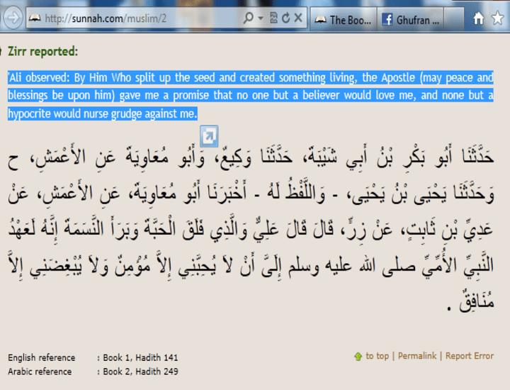 Loving Imam Alias is the symbol of faith