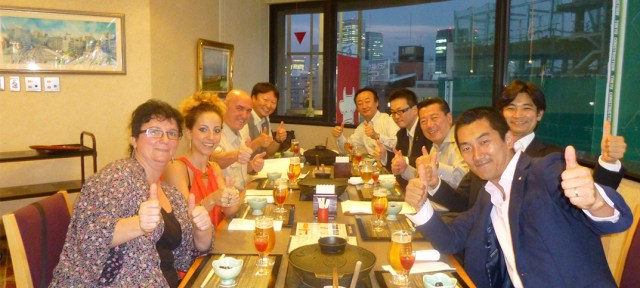 Cena con la Junta directiva de la Internacional Shiatsu Foundation
