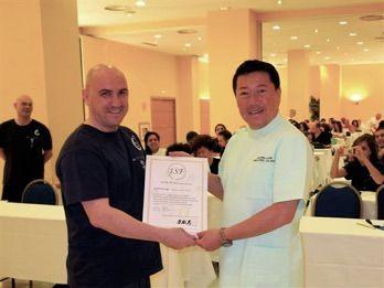 Shiatsu Examen Internacional, Takshi Namikoshi y Arturo Valenzuela Entrega de Diplomas