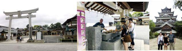 Shiatsu Master en Japón, Visita al castillo y templo en hiroshima
