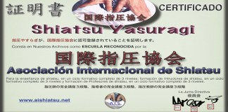 Shiatsu Yasuragi Reconocida por Asociacion Internacional de Shiatsu
