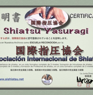 Shiatsu Yasuragi Reconocida por Asociación Internacional de Shiatsu