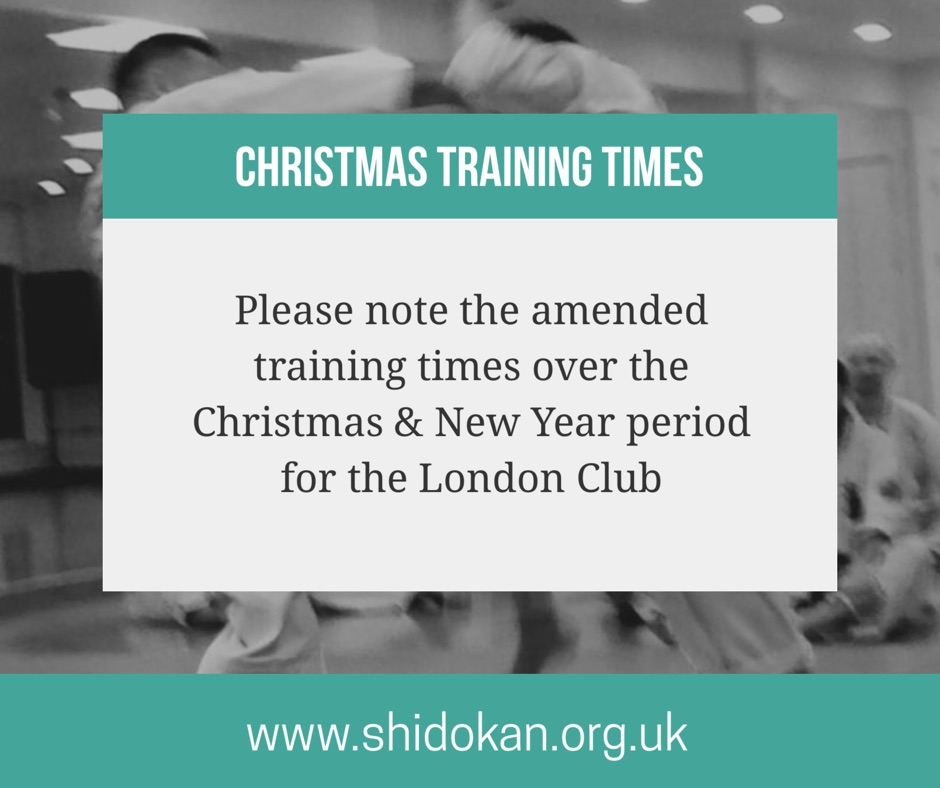 Christmas Training Times | London Club