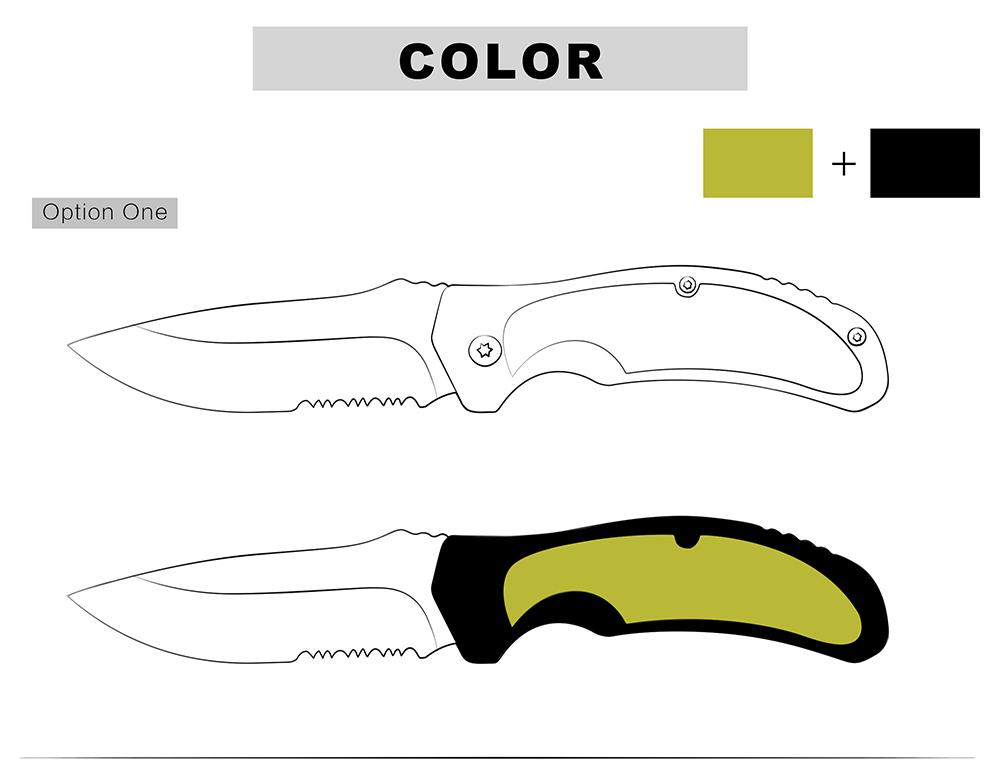 KSHIELD Custom Knife Handle Color Option One