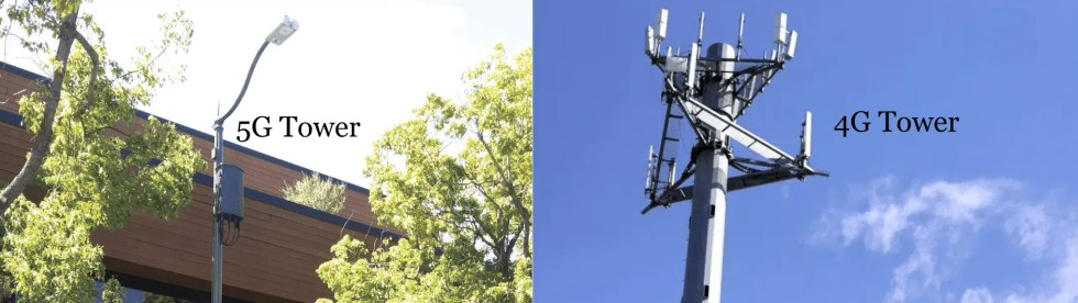 4g compared to 5g cell towers