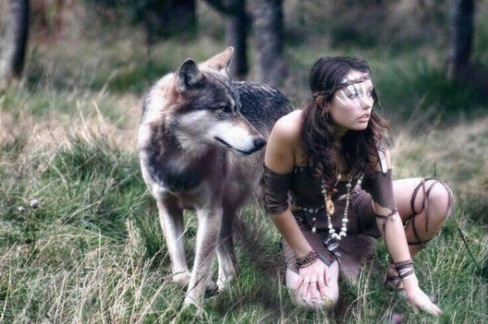 woman wolf medicine