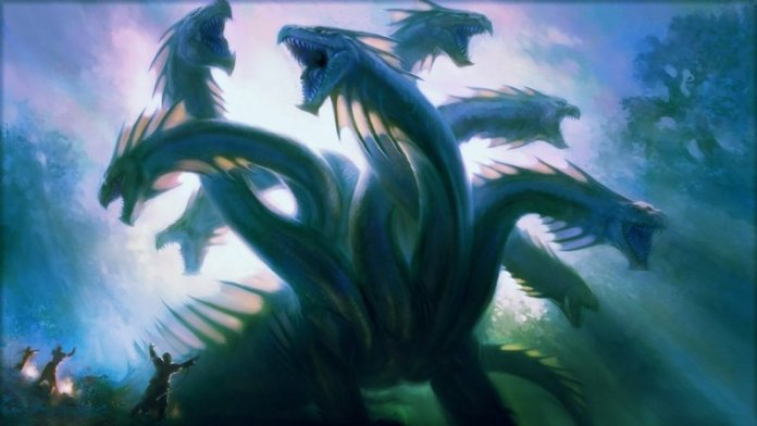 wallpaper-mythical-creature-hydra-retro-image