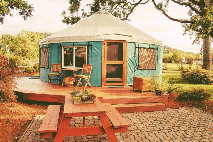 off-grid yurt home