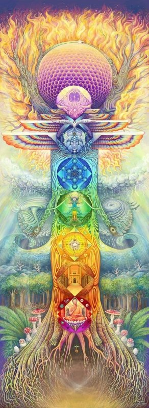 chakras visionary art