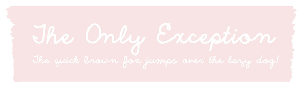 Cursive Handwriting Font - The Only Exception