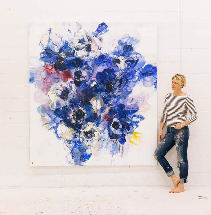 Bobbie Burgers Floral Painting