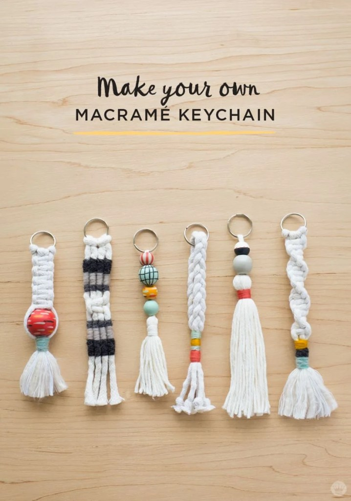 Things to Make and Sell - Macrame Keychain