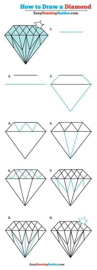How to Draw a Diamond