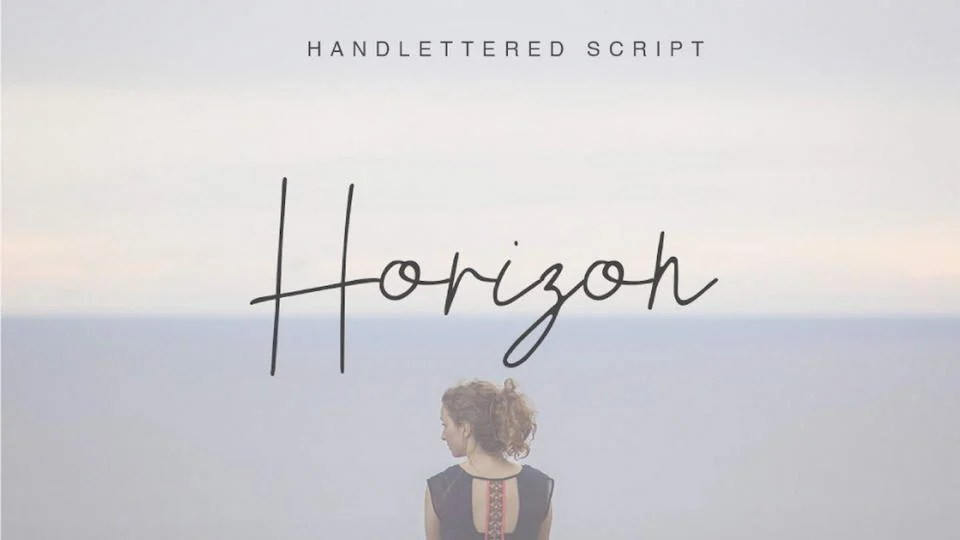 Free Handwriting Font Horizon