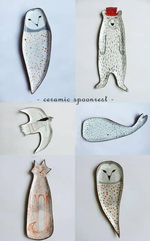 Animal Spoonrest Ceramics