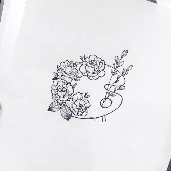 Flower Art Palette Doodle - Bullet Journal Drawing