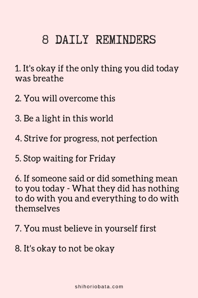 8 Daily Reminders - Read for 61 daily reminders for any day #dailyreminders #quotes #selflove