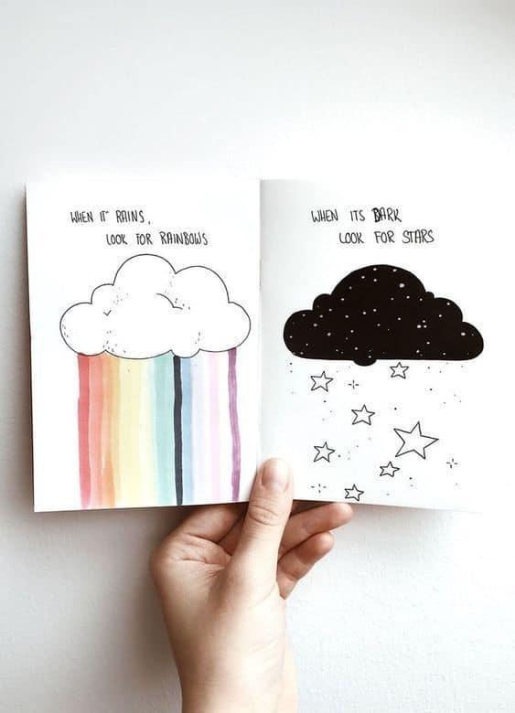Cloud Bullet Journal Doodle #art #drawing
