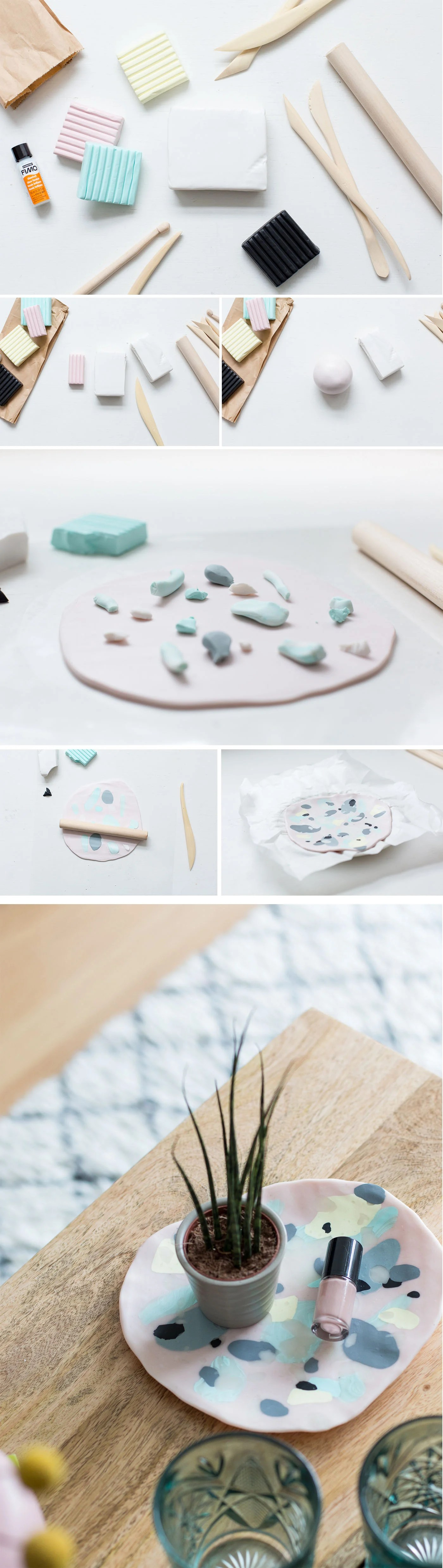 DIY Polymer Clay Coffee Table Plate